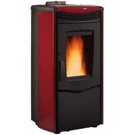STUFA PELLET MELINDA STEEL AIR BORDEAUX