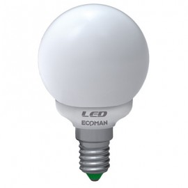 LED MINI SFERA 4W 6000K E14 SCP