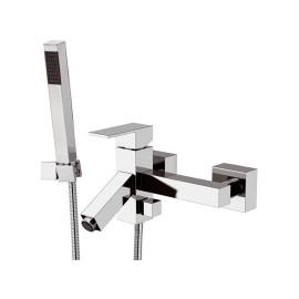 Miscelatore vasca esterno con flessibile e doccia duplex Mariani serie Tower