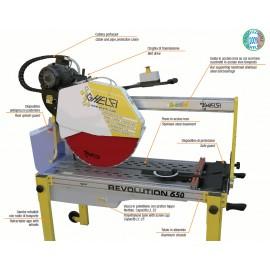 Taglierina elettrica ad acqua Ghelfi Revolution 650 monofase