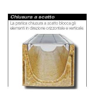 Canaletta In Calcestruzzo Polimerico Con Griglia Zincata