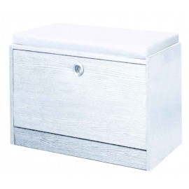 Scarpiera cubo miniblock con anta e cuscino