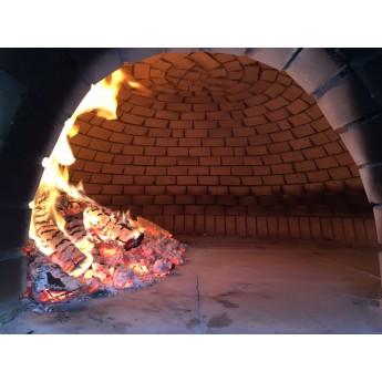 Forno a legna prefabbricato cusimano diamento 120 cm per for Sportello per forno a legna
