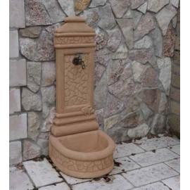 Fontanella da muro in pietra ricostruita volpedo