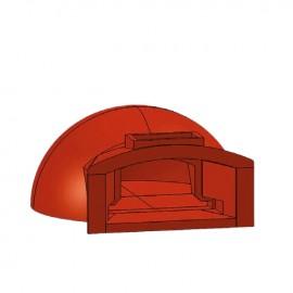 Forno a legna per pane e pizza a bocca larga 110x110 cm vibrok