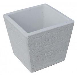 Vaso quadrato per punto acqua tavolozza travertino bianco