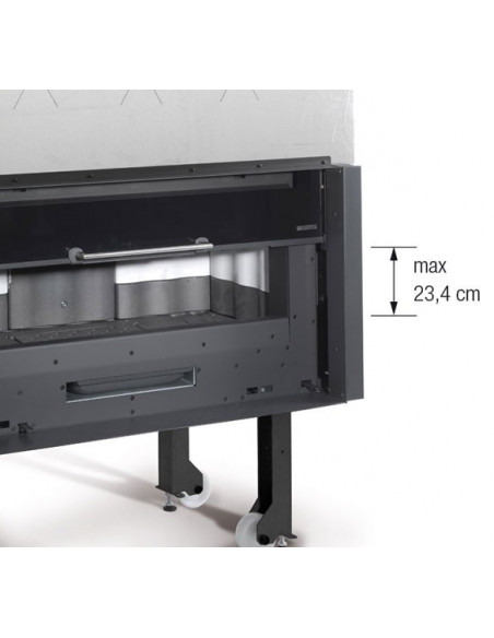 Camino a legna Monoblocco 1000 Piano Crystal 10,0 Kw La Nordica Extraflame