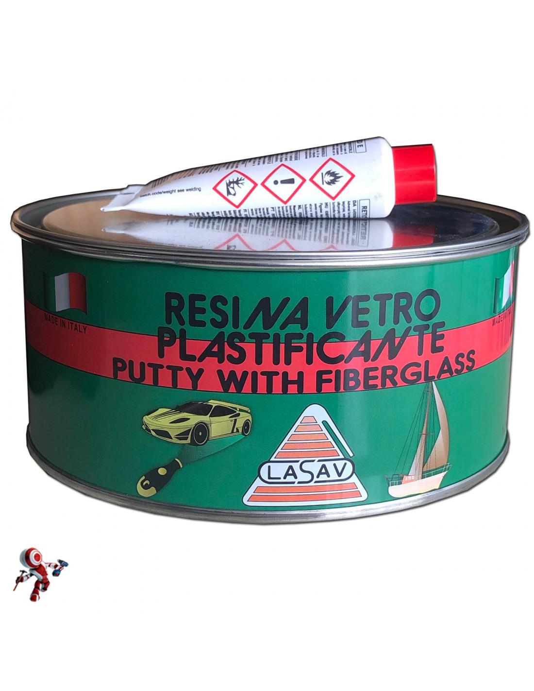 Stucco in pasta per vetroresina con catalizzatore 750 ml Vetroresina in pasta ideale per carrozzeria
