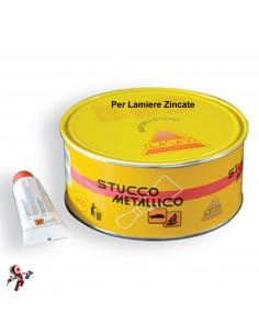 Dettagli su  Stucco per metallo lamiera zincata bicomponente 750 ml con catalizzatore