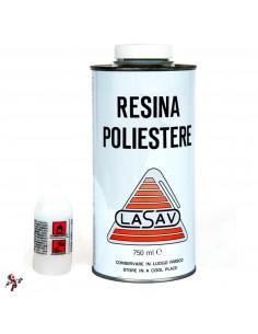 Resina poliestere liquida trasparente bicomponente per barche stampi 750 ml