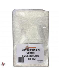 Fogli fibra di vetro Mat fibra di vetro per resina carbonio poliestere 0,5 mq