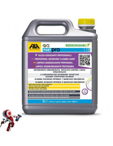 Fila PS 87 Pro detergente decerante sgrassante 5lt