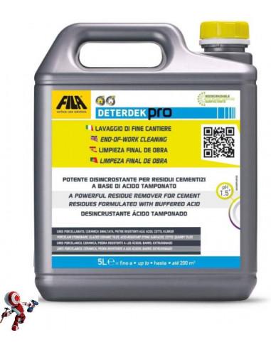 Fila Deterdek Pro detergente disincrostante acido 5lt