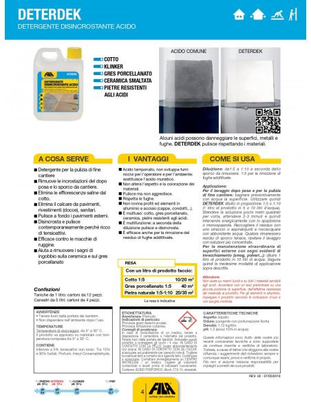Fila Deterdek Pro detergente disincrostante acido