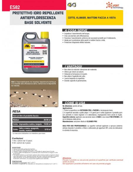 Fila ES82 protettivo idrorepellente antiefflorescenza base solvente