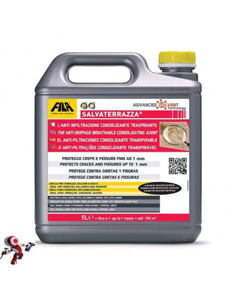 Fila SALVATERRAZZA protettivo consolidante anti infiltrazione base solvente LT.5