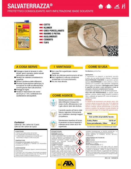 Fila SALVATERRAZZA protettivo consolidante anti infiltrazione base solvente