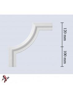 Angolo per cornice in polistirolo modello V40