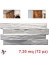 Pannelli in polistirolo finta pietra modello Roccaraso bianco (7,20mq)