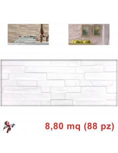 Pannelli in polistirolo finta pietra modello Positano bianco (8,80mq)
