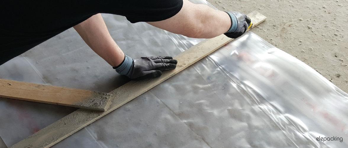 Foglia ferramenta in polietilene ad elevato spessore trasparente